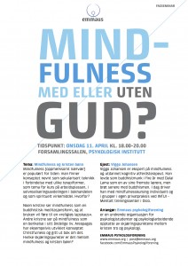 Fagseminar mindfulness - plakat